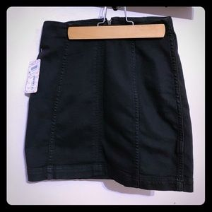 Free People Modern Femme Black Denim Mini Skirt
